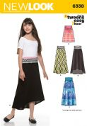 6338 New Look Pattern: Girl's Easy Skirts and Knit Skirts